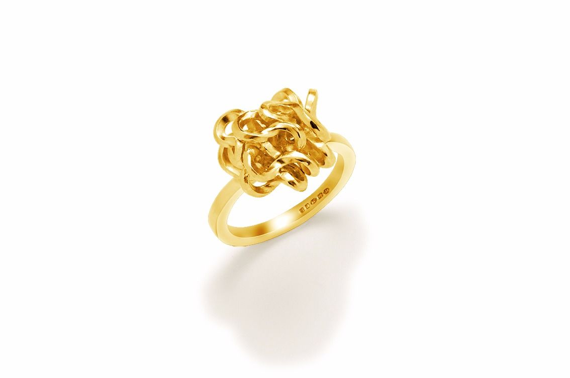 Handmade Foil Brunch Ring Gold - product images  of