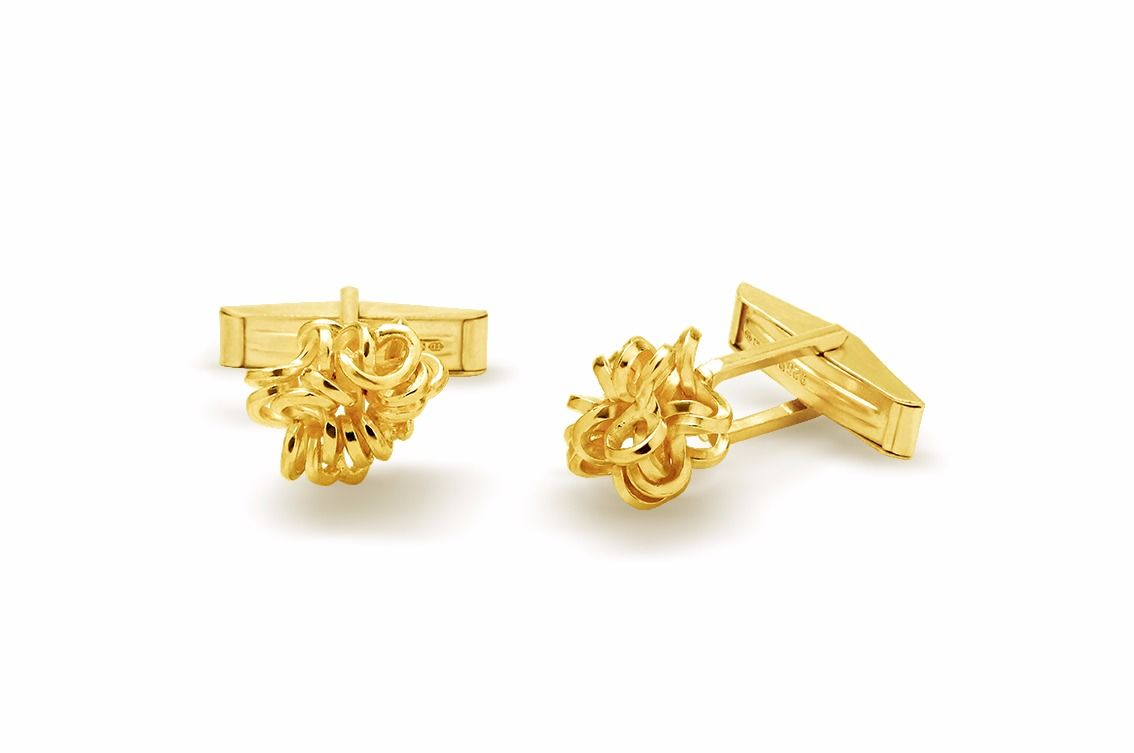 Handmade Foil Brunch Cufflinks Gold - product images  of
