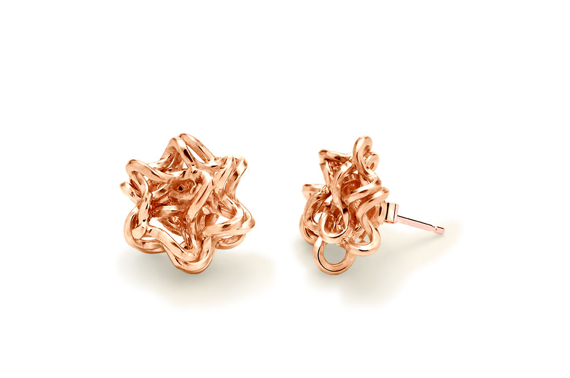 Handmade Foil Brunch Studs (Rose Gold) - product image