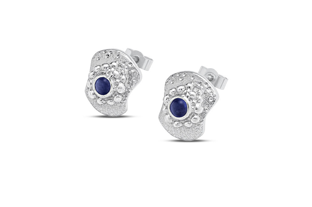 Bent but not Broken studs -  mini Iolite - product image