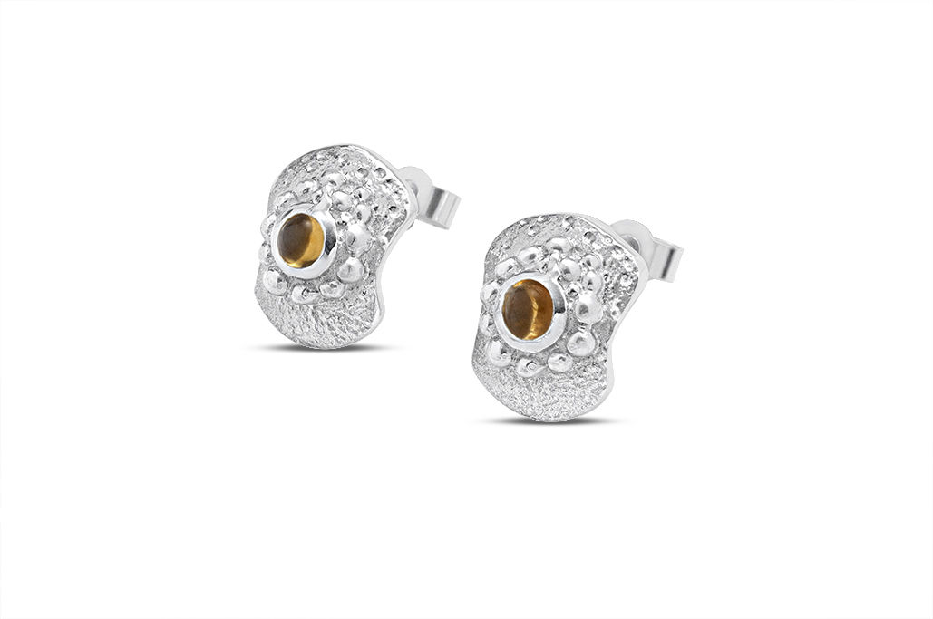 Bent but not Broken studs -  mini citrine - product image