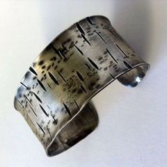 Unisex Sterling Silver Cuff Made to Order - Birch - Free Shipping - product images 1 of 3