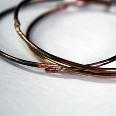 Three Bronze Bangles Free Shipping Made to Order - product images 2 of 4