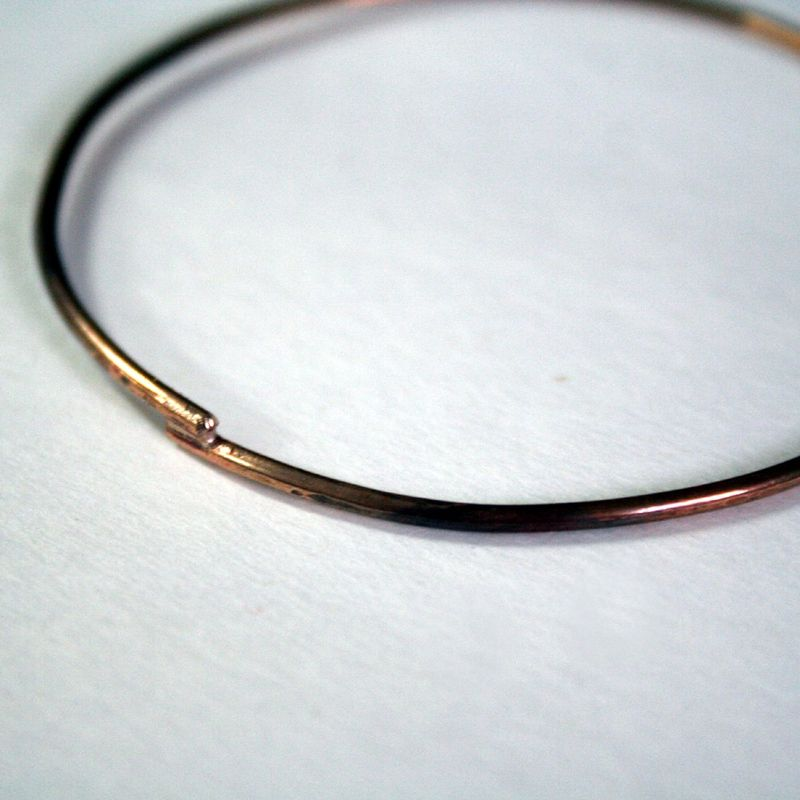 Three Bronze Bangles Free Shipping Made to Order - product images  of