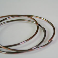 3 Rustic Copper Bangles Free Shipping - product images 4 of 4