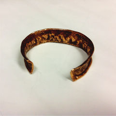 Unisex Tribal Earthy Copper Hammered Cuff - product images 3 of 3