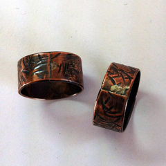 Hawthorn,Copper,Unisex,Band,Ring,Free,Shipping,Copper ring, unisex, men, women, woman, man, tree, nature, rustic, organic