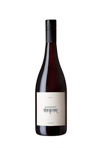 2018,SANSKRIT,Gamay,Noir,Wine Domaine Simha Sanskrit Gamay red wine Tasmania Australia Nav Singh Louise Radman natural method natural naturel cellar door tastings tours