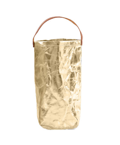 METALLIC,CARRY,BAG,Tasmania Domaine Simha accessory accessories lifestyle Hobart Gift Bag gold carry wine paper uashmama