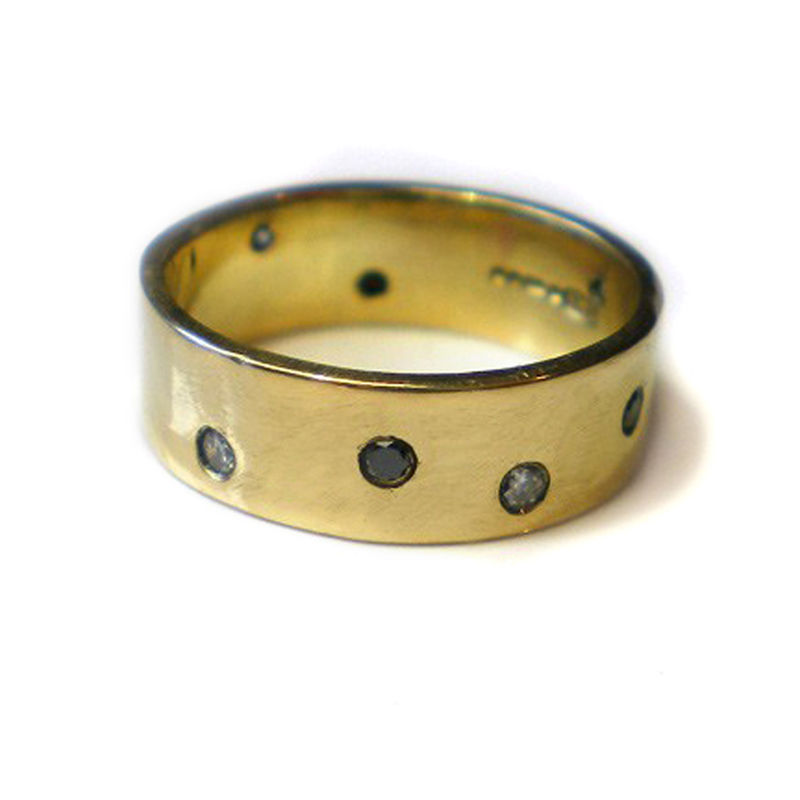 Night and Day wedding ring, 18ct yellow gold & diamonds by Catherine Marche - product images  of