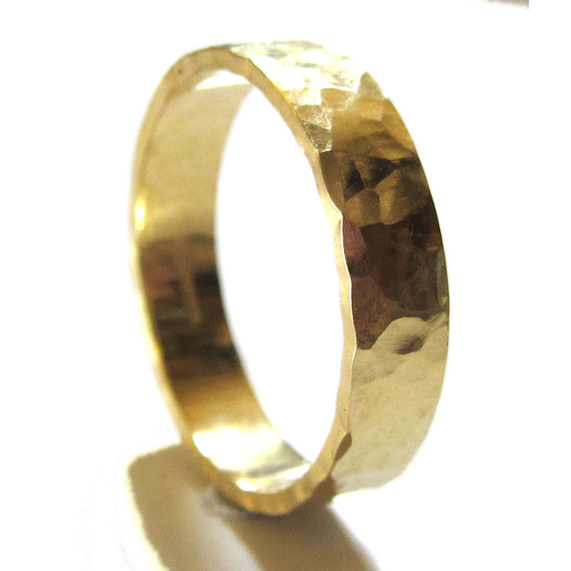 Hammered 18K Gold Wedding Ring by Catherine Marche - product images  of