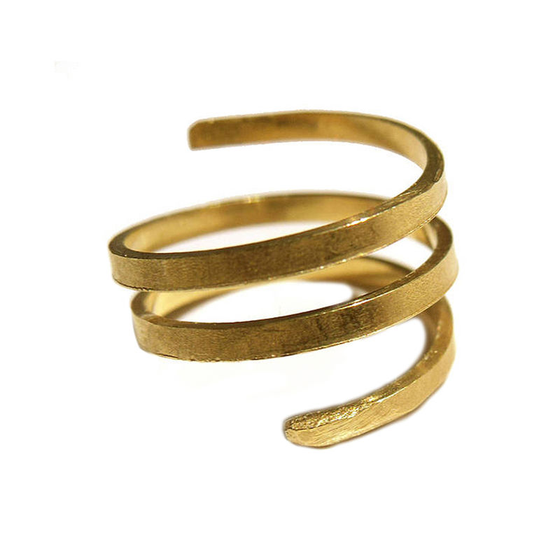 Twist & Curl 18ct gold Vermeil ring by Catherine Marche - product images  of