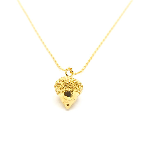 Acorn,necklace,gold,by,KristinM,acorn necklace