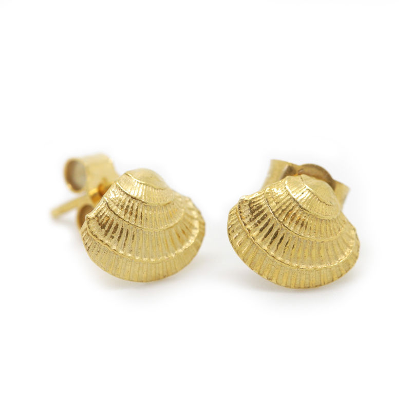 Venus Shell studs gold by KristinM - product images
