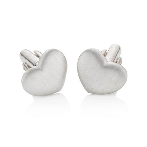 Heart,cufflinks,by,KristinM,heart cufflinks, silver cufflinks