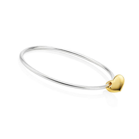 Gold,Heart,bangle,by,KristinM,heart bangle, silver and gold bangle