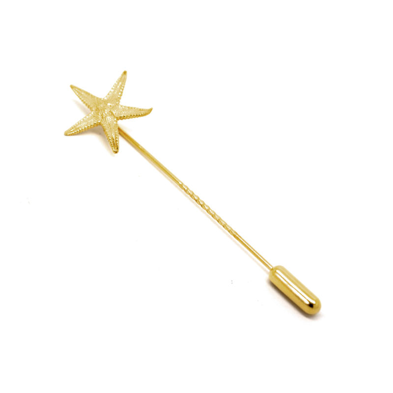 Starfish lapen pin gold by KristinM - product images