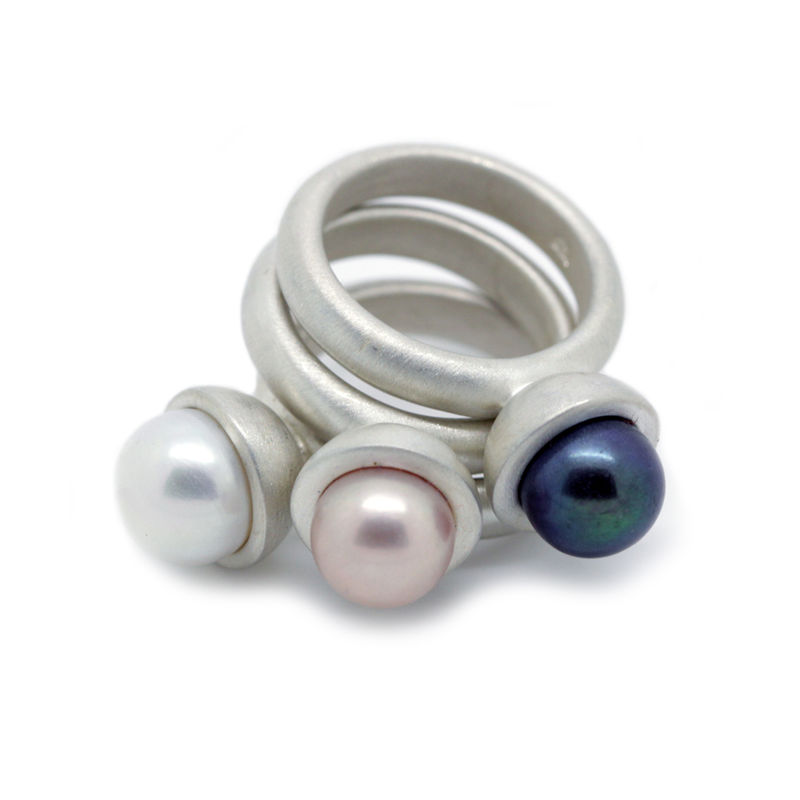 Pearl cup ring matte by KristinM - product images