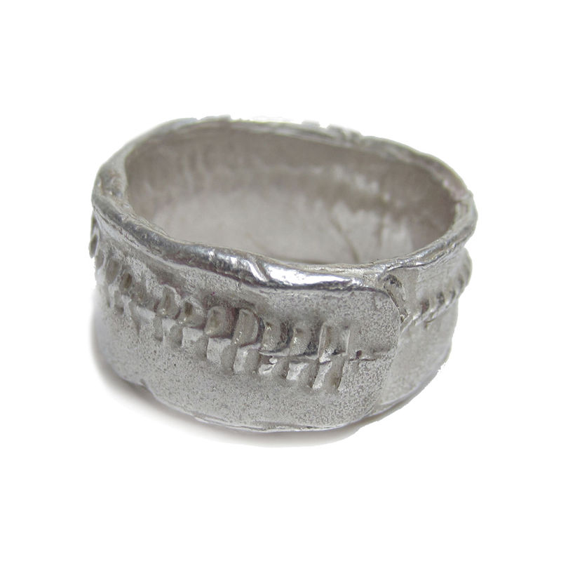 Rustic Silver Ring for Men by Catherine Marche - product images  of