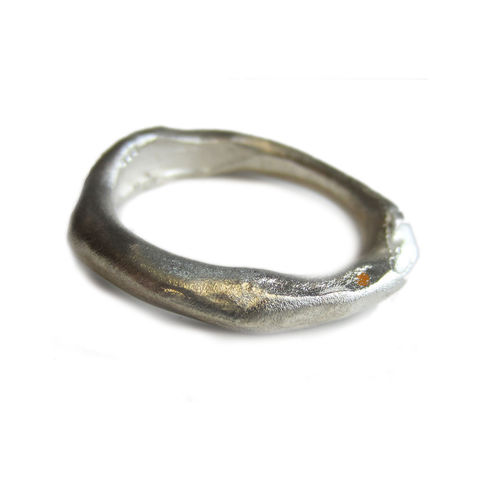 Sterling,Silver,Organic,Ring,by,Catherine,Marche,made in the UK, designer jewellery, alternative bride, organic silver ring, london, jedeco,catherine marche