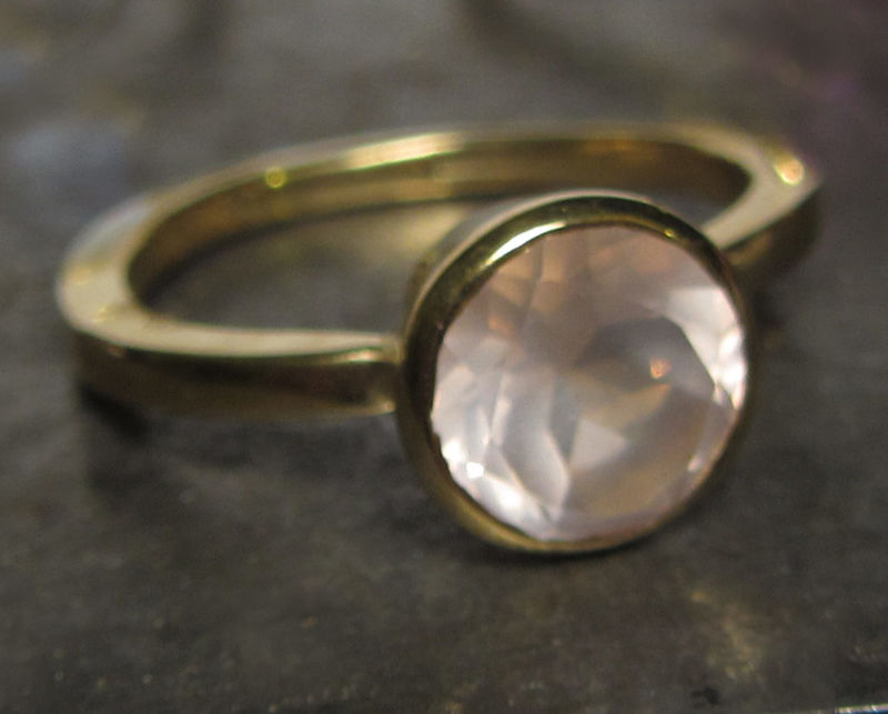 Gold Cocktail Ring with Rose quartz, 18K yellow gold by Catherine Marche - product images  of