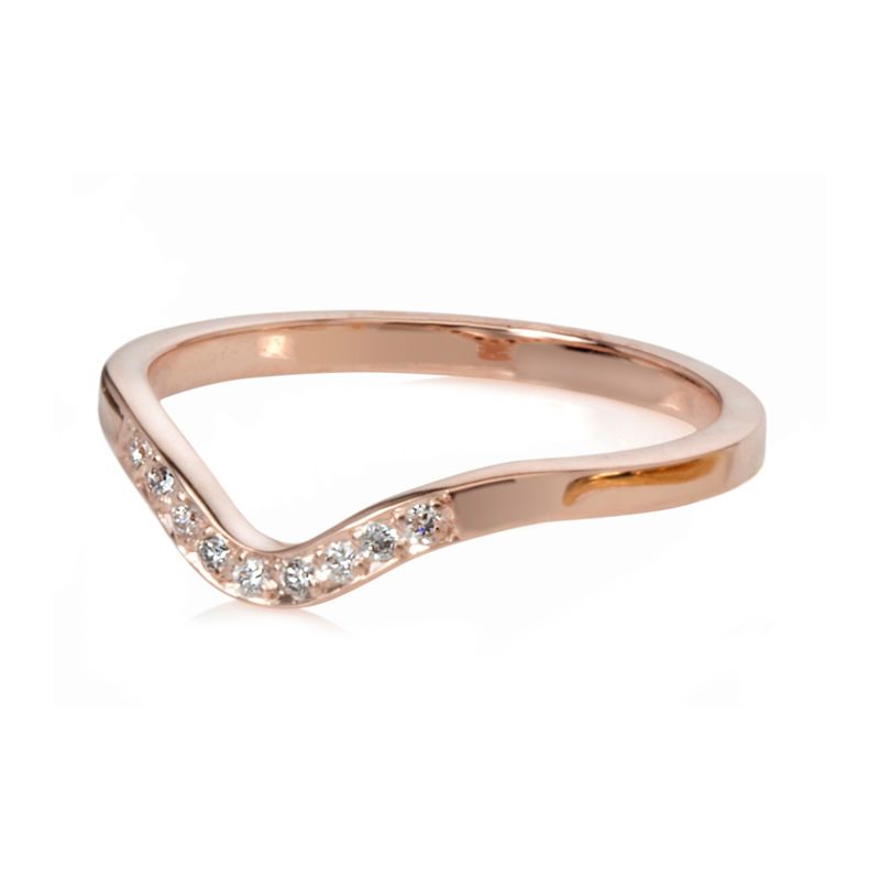 Deco ring rose gold with diamonds by Danny Ries - product images