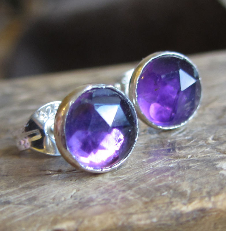 Purple Amethyst Stud Earrings by Catherine Marche - product images  of