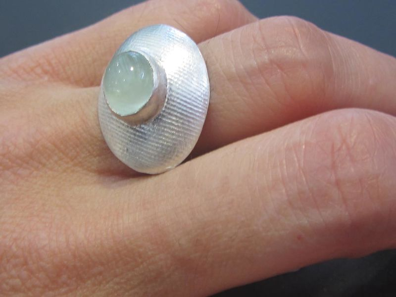 Aquamarine Ring - Sterling Silver - la Dame du Lac by Catherine Marche - product images  of
