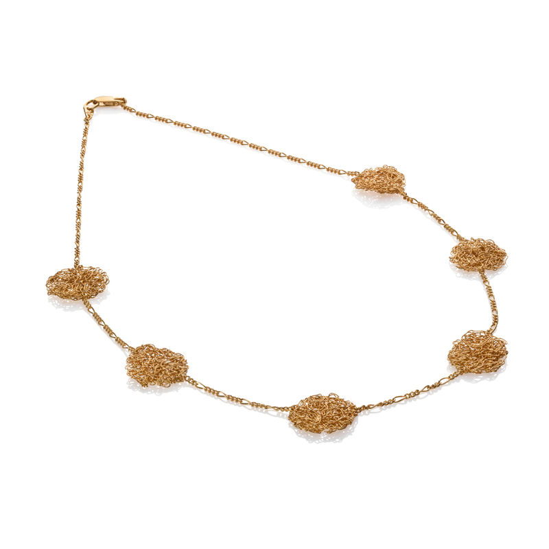 HANDKNIT necklace gold by Danny Ries - product images