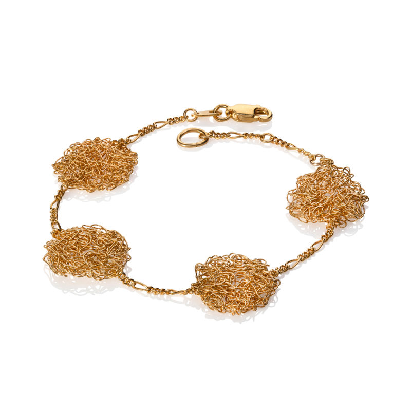 HANDKNIT bracelet gold by Danny Ries - product images