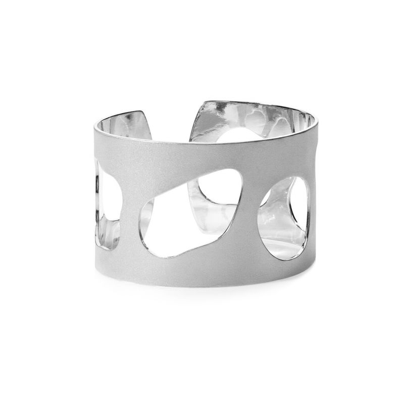 Weathered Shapes cuff silver by Juliet Strong - product images