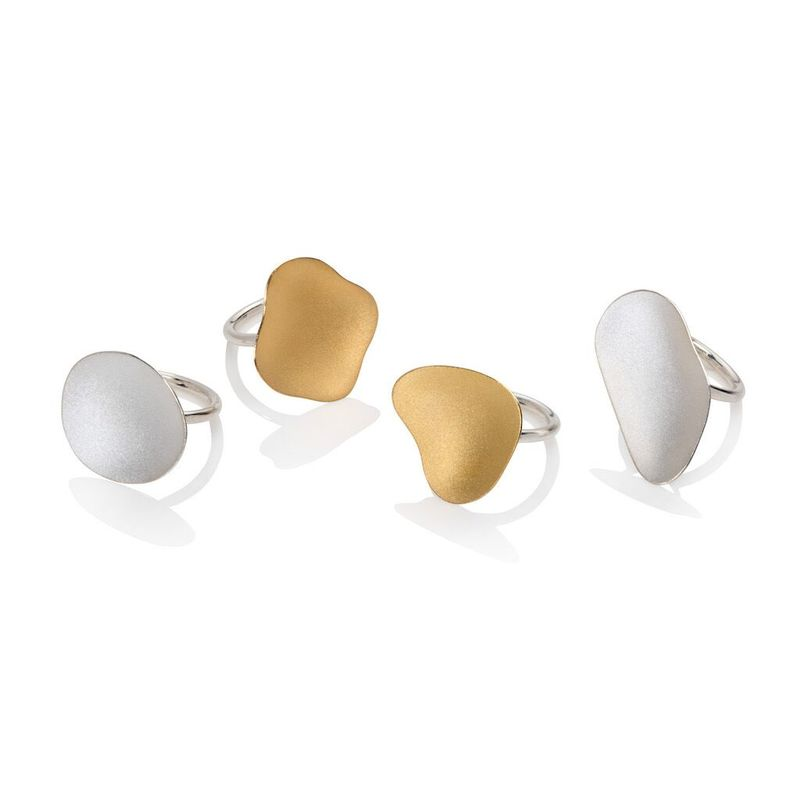 Weathered Shapes ring gold by Juliet Strong - product images  of