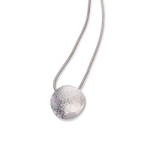 Weathered,Shapes,chain,necklace,1,by,Juliet,Strong,Juliet Strong, geometric silver pendant, pebble pendant silver