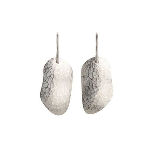 Weathered,Shapes,earrings,2,by,Juliet,Strong,Juliet Strong, geometric silver earrings, pebble earrings silver