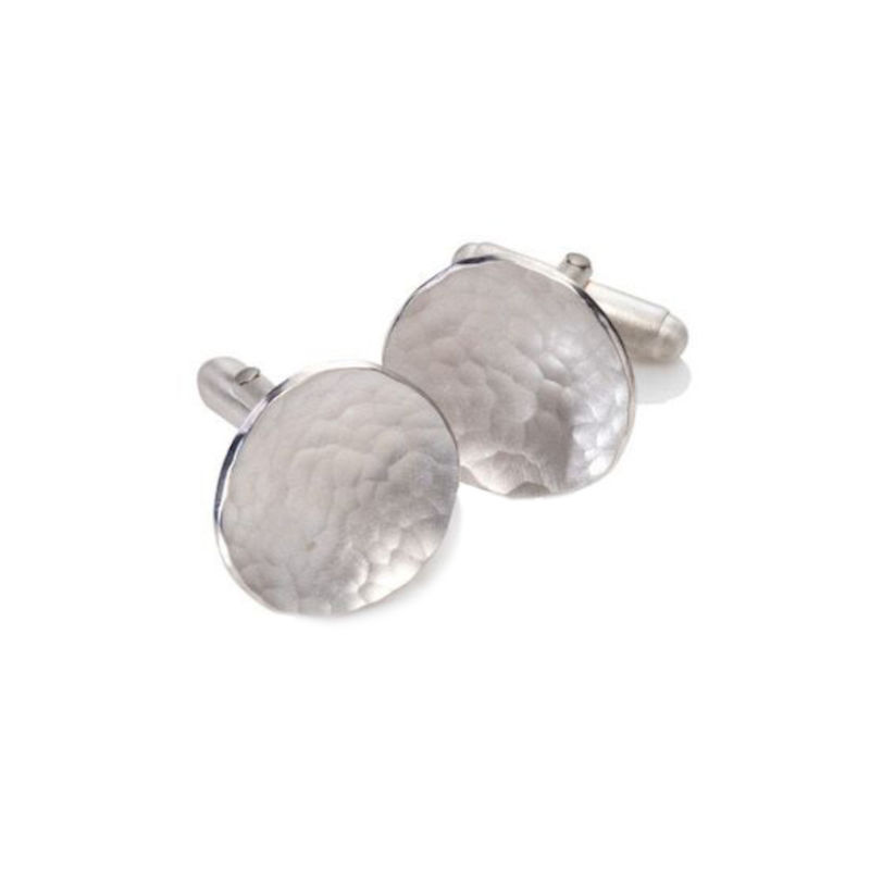 Weathered Shapes cufflinks round by Juliet Strong - product images