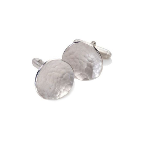 Weathered,Shapes,cufflinks,round,by,Juliet,Strong,Juliet Strong, geometric silver earrings, pebble earrings silver