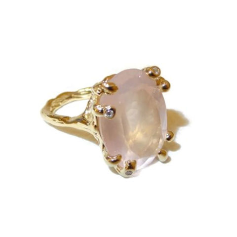 Rose,Quartz,and,diamonds,9ct,gold,ring,by,LaParra,Jewels,rose quartz ring, laparra jewels, 9ct gold ring
