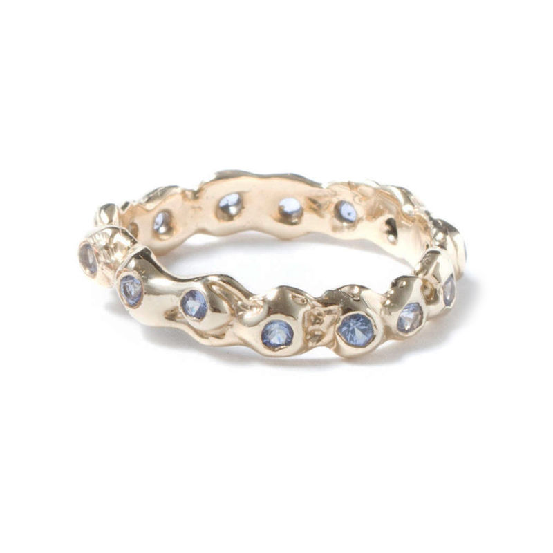 Gold Eternity Ring With Light Blue Sapphires by LaParra Jewels - product images  of