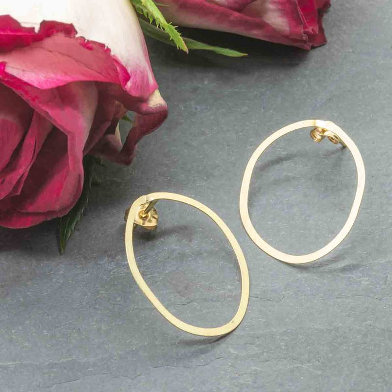 18ct solid yellow Gold Hoop Earrings by Catherine Marche - product images  of