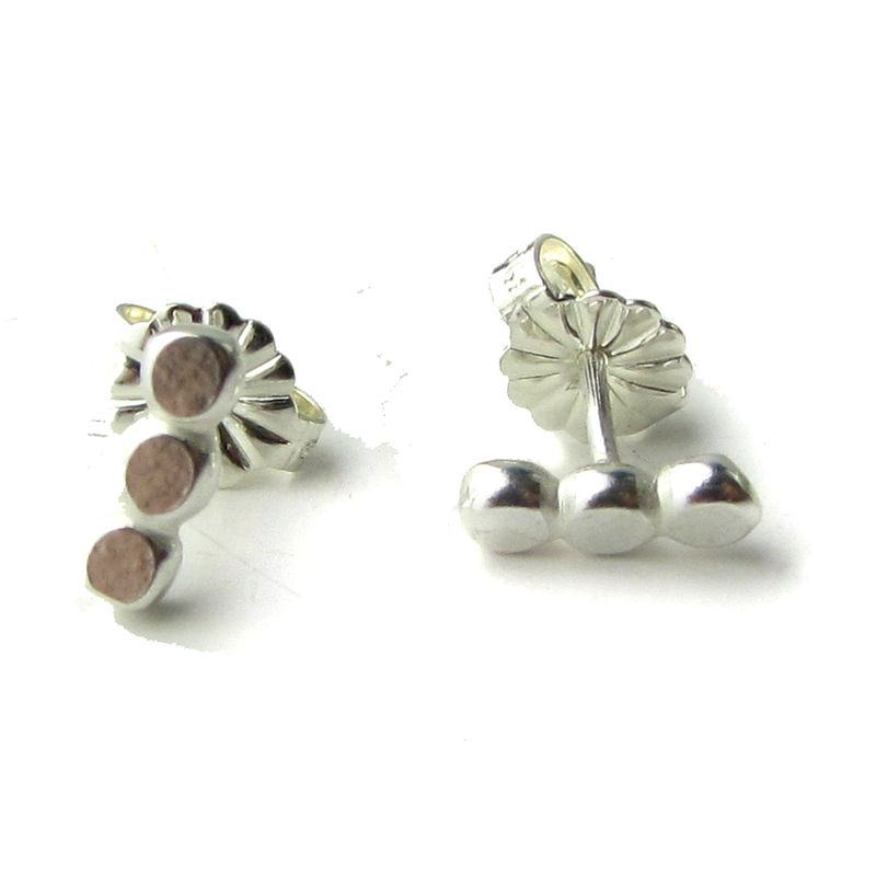 Petits Pois Sterling Silver Stud Earrings by Catherine Marche - product images  of