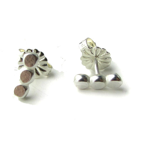 Petits,Pois,Sterling,Silver,Stud,Earrings,by,Catherine,Marche,dots earrings, bar earrings, petits pois earrings, sterling silver stud earrings, catherine marche jewellery, french chic