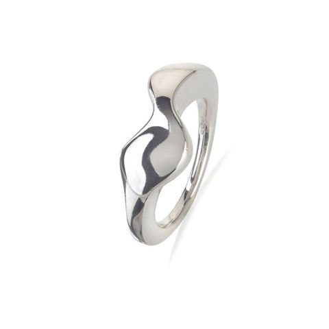 Flow,ring,silver,by,Juliet,Strong,Juliet Strong, pebble ring silver