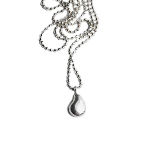 Silhouette,pendant,silver,by,Katerina,Damilos,Katerina Damilos, jedeco, silver nugget pendant, silver charm necklace