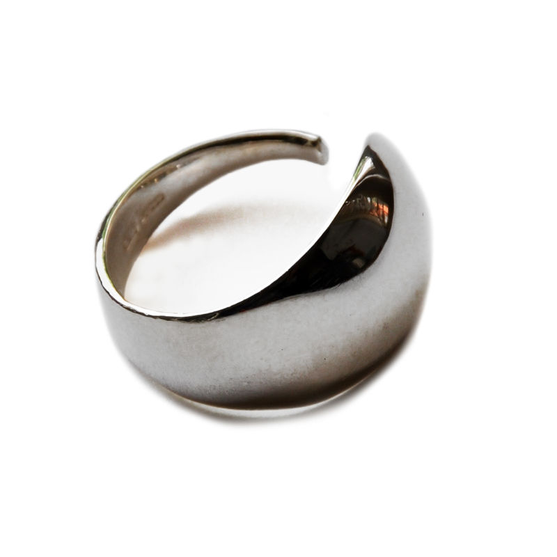 Silhouette convex sculptural open ring by Katerina Damilos