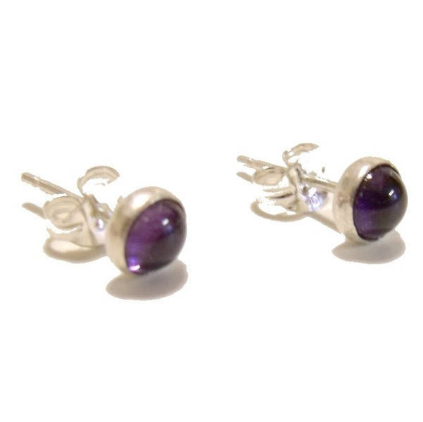 Round Amethyst Stud Earrings by Catherine Marche  - product images