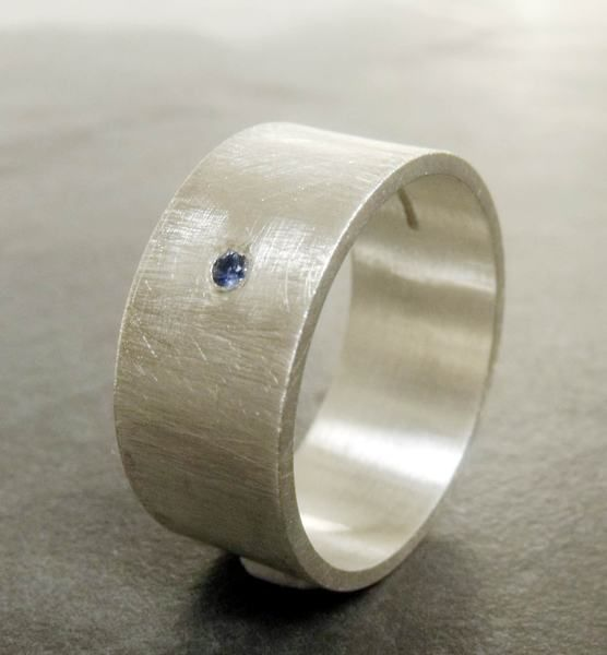Blue Sapphire Wedding Band for Men by Catherine Marche - product images  of