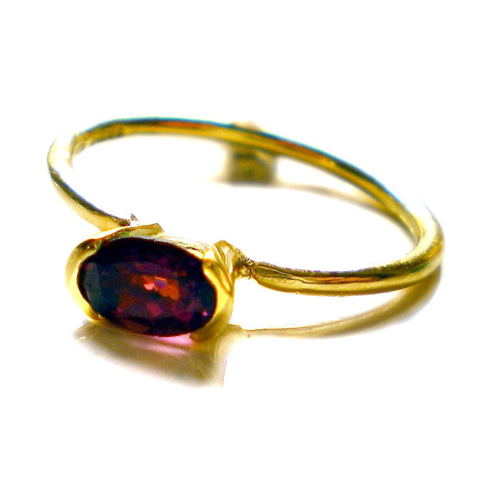 Red Tourmaline Ring in 18K solid yellow gold by Catherine Marche - product images  of