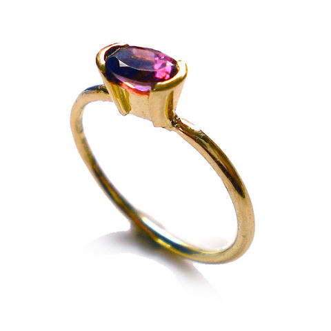 Red,Tourmaline,Ring,in,18K,solid,yellow,gold,by,Catherine,Marche,red tourmaline ring, red gemstones, rubellite ring, gold solitaire, catherine marche jewellery