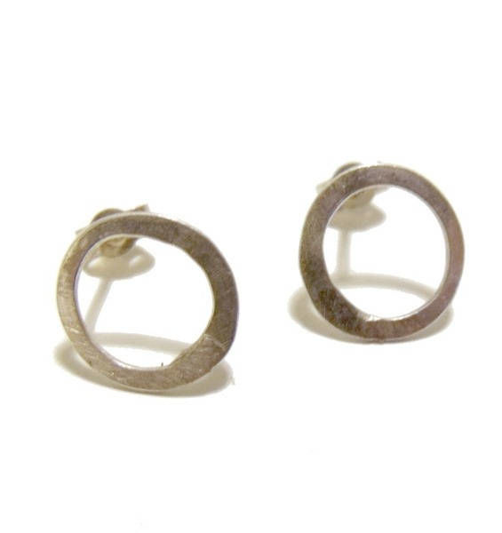 Organic Circle Stud Earrings by Catherine Marche - product images  of