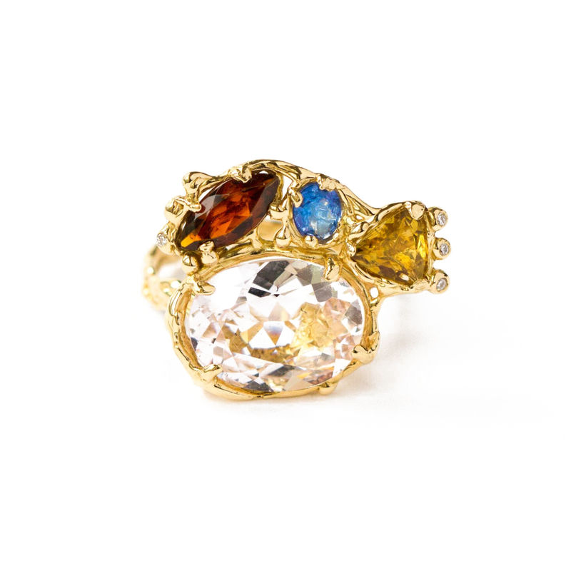 18ct yellow gold ring with multiple gems by LaParra Jewels - product images
